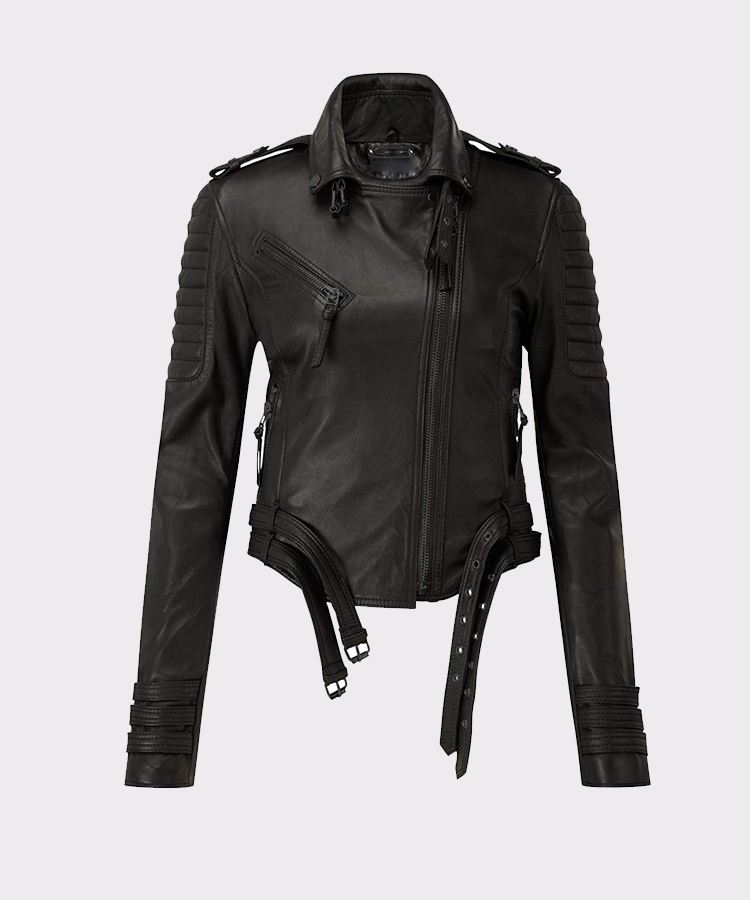 Women's Motorcycle Leather Jacket for Real Ladies Bikers