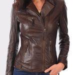Women's Real leather lambskin bomber jacket for biker