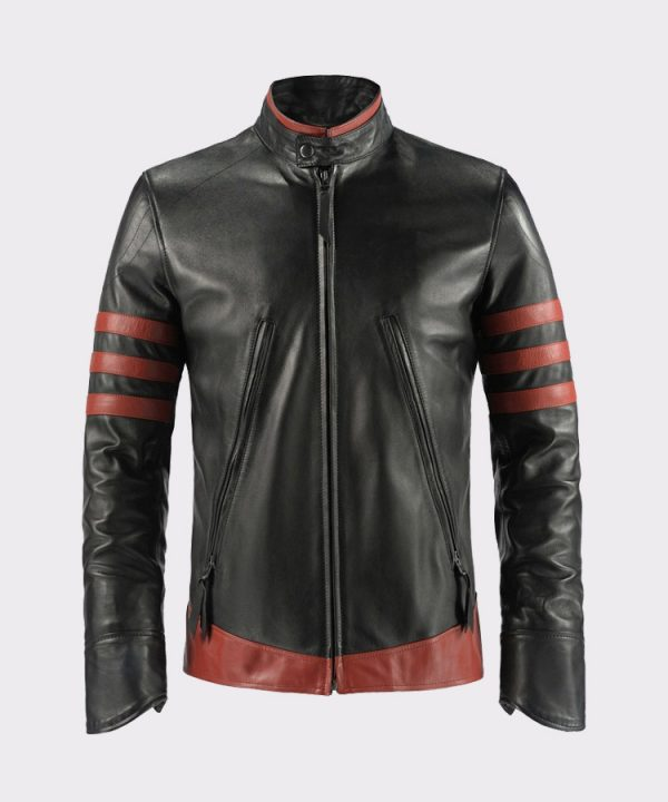 X-Men Wolverine Origins Black Motorcycle Leather Jacket