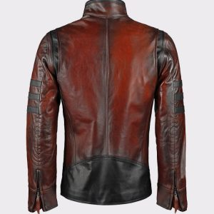 X-Men Wolverine Vintage Brown Motorcycle Leather Jacket1