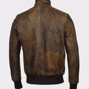 leather jacket for men brown bomber aviator biker retro cafe racer motorcycle