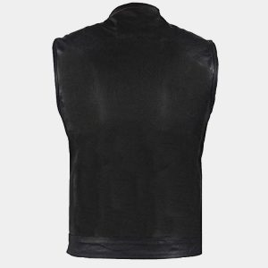 Big Men's Top Grade Club Leather Motorcycle Vest