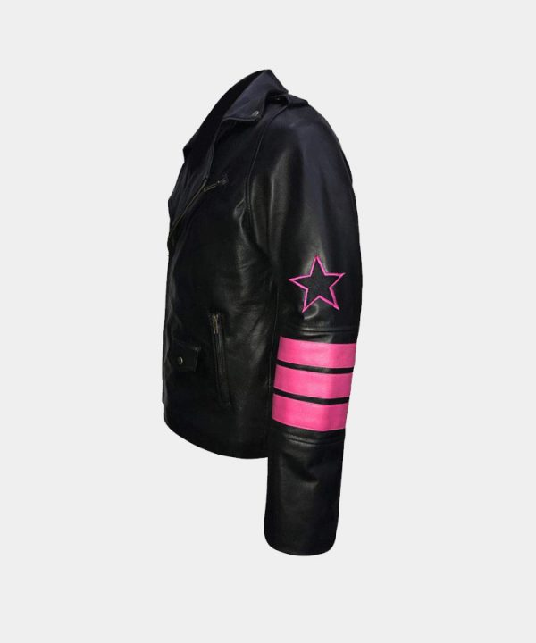 Bret Hitman Hart Embroidery Skull Fuax Leather Jacket