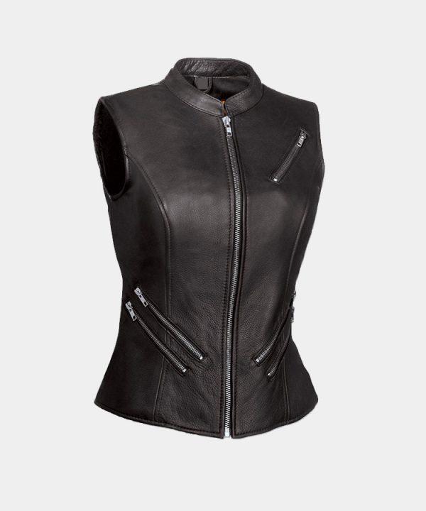 First Manufacturing Co The Fairmont Ladies Black Vest