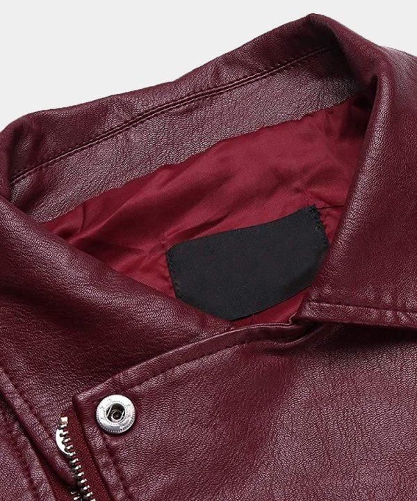 Leather Motorcycle Vest Zipper Slim Fit Biker Waistcoat with Gun Pocket