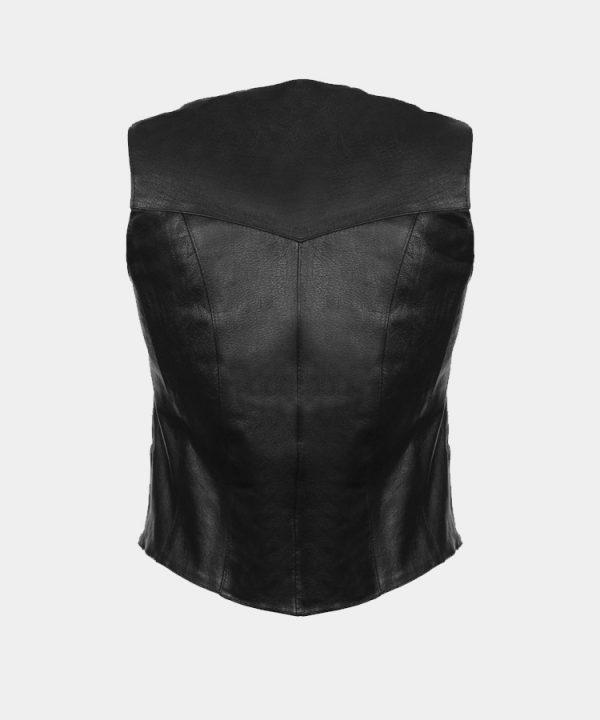 Leather Women's Classic Four Snap Vest