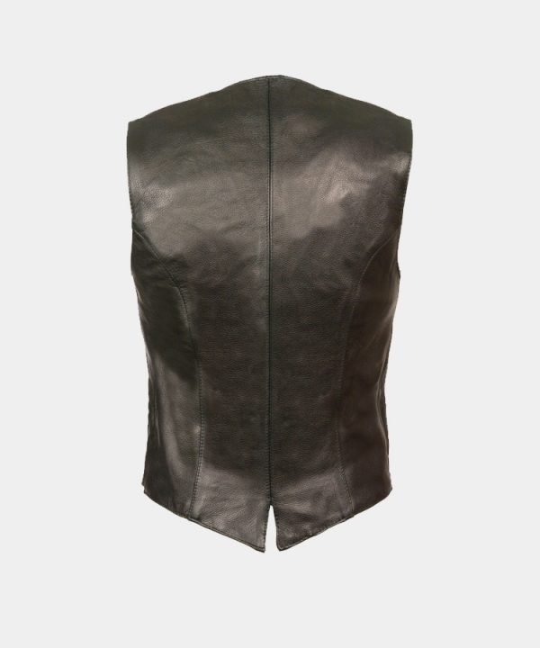 Leather Women's Classic Snap Front Vest