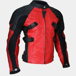 Men's Deadpool Wade Wilson Motorcycle Ryan Reynolds Leather Jacket