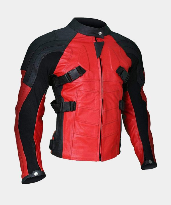 Men's Deadpool Wade Wilson Motorcycle Ryan Reynolds Leather Jacket