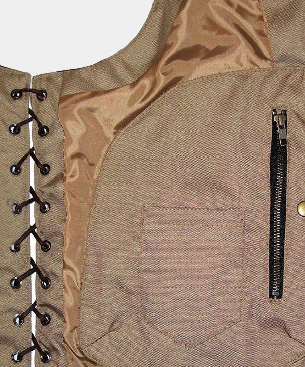 Men's Ten Pocket CC Retro Brown Buffalo Hide Leather Vest