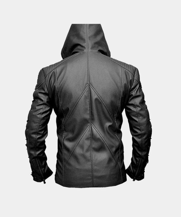 Stephen Amell Roy Harper Green Arrow Faux Leather Jacket