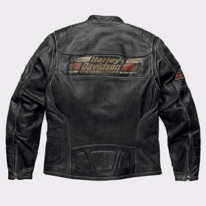 Mens Harley Davidson Classic Motorcycle Leather Jacket