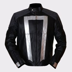 Agents Of Shield Gabriel Luna Ghost Rider Black & Grey Leather Jacket