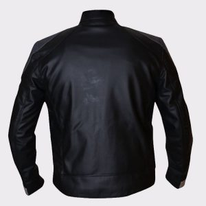 Agents Of Shield Gabriel Luna Ghost Rider Black & Grey Leather Jacket back