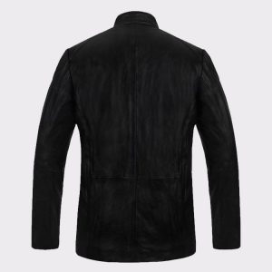 Buy Celebrity Debonair Hugh Jackman Real Steel Leather Fashion Jacket back
