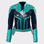 Captain Marvel Ladies Faux Real Leather Jacket