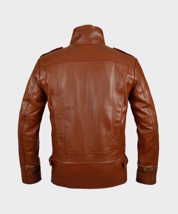 Celebrity Bill Clifford the Rocketeer Classic Vintage Leather Jacket Back