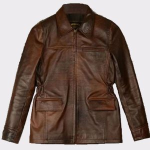 Celebrity Katniss Everdeen Hunger Games Leather Fashion Jacket