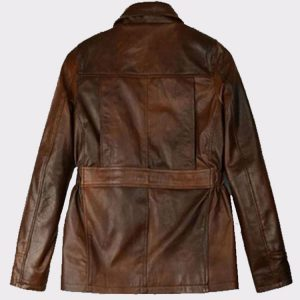Celebrity Katniss Everdeen Hunger Games Leather Fashion Jacket Back