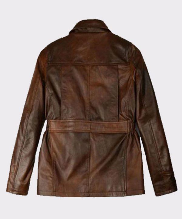 Celebrity Katniss Everdeen Hunger Games Leather Fashion Jacket Back
