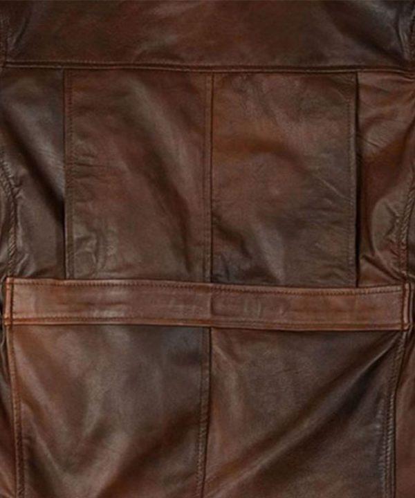 Celebrity Katniss Everdeen Hunger Games Leather Fashion Jacket1