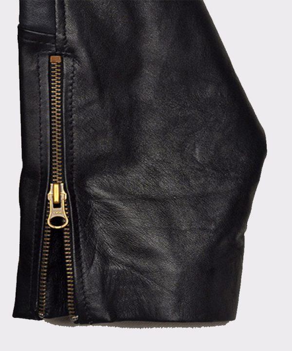 Christian Bale Batman Begins 2005 Fashion Leather Jacket 1