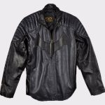 Christian Bale Batman Begins 2005 Fashion Leather Jacket
