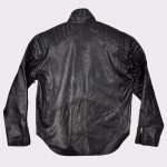 Christian Bale Batman Begins 2005 Fashion Leather Jacket back