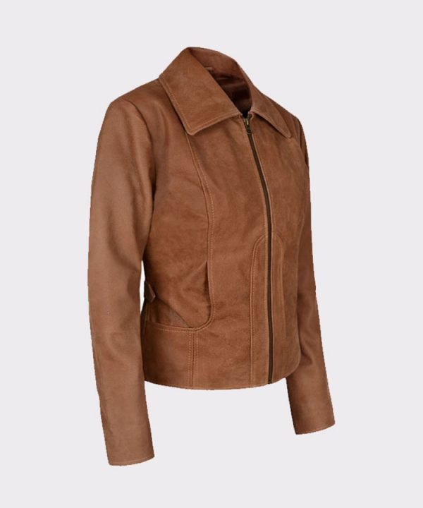 Jennifer Lopez Gigli Ladies Amazing Leather Brown Jacket1