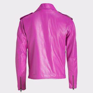 Jessica Alba Celebrity Pink Ladies Leather Jacket 1