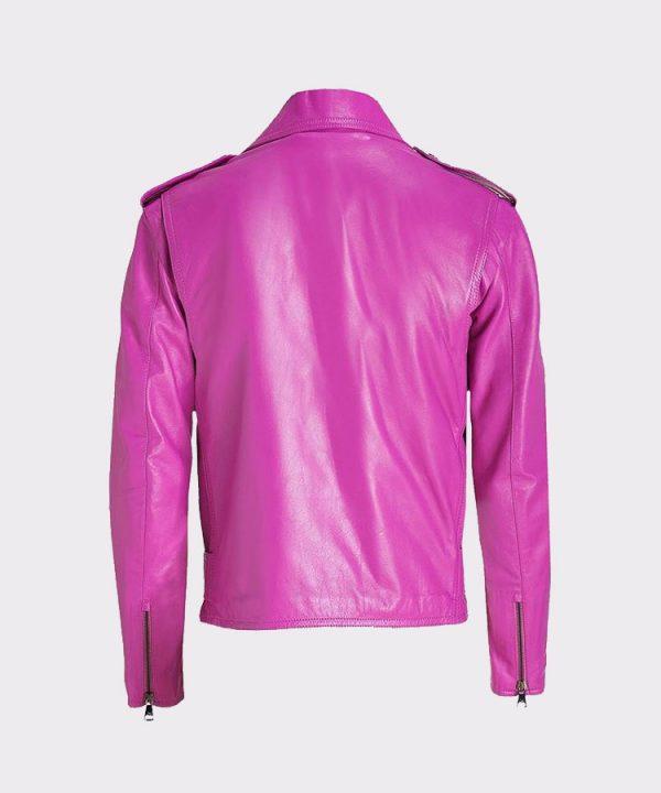 Jessica Alba Celebrity Pink Ladies Leather Jacket 1
