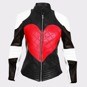Kylie Minogue Ladies Beautiful Heart Leather Fashion Jacket