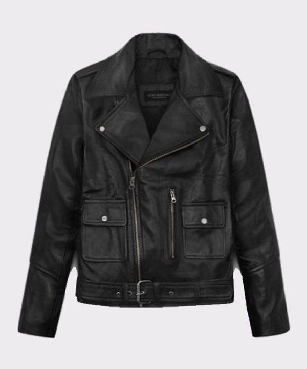 Ladies Beautiful Alicia Vikander Tomb Raider Biker Leather Jacket