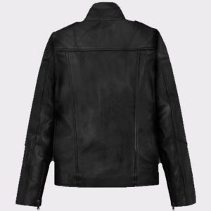 Ladies Beautiful Alicia Vikander Tomb Raider Biker Leather Jacket back