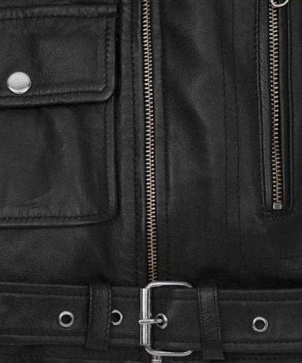 Ladies Beautiful Alicia Vikander Tomb Raider Biker Leather Jacket back