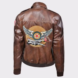 Ladies Flight Captain Marvel Brie Larson Genuine Cowhide Bomber Jacket