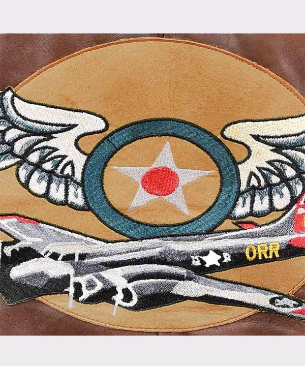 Ladies Flight Captain Marvel Brie Larson Genuine Cowhide Bomber Jacket 4