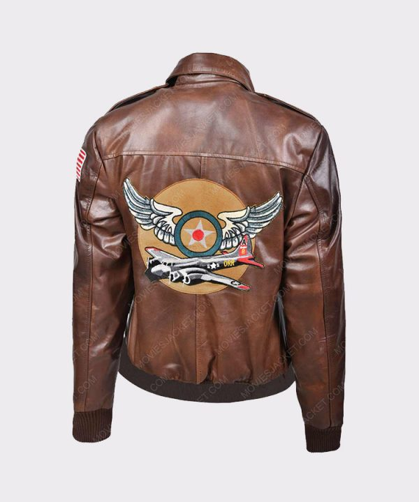 Ladies Flight Captain Marvel Brie Larson Genuine Cowhide Bomber Jacket
