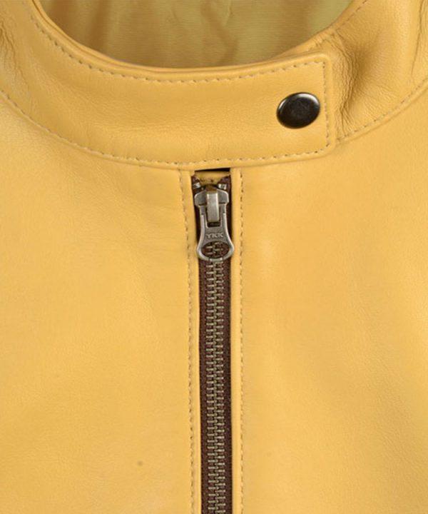 Ladies Megan Fox Teenage Mutant Ninja Turtles Yellow Leather Jacket2