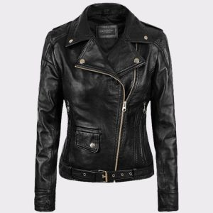 Ladies Sarah Connor Terminator Genisys Leather Fashion Biker Jacket