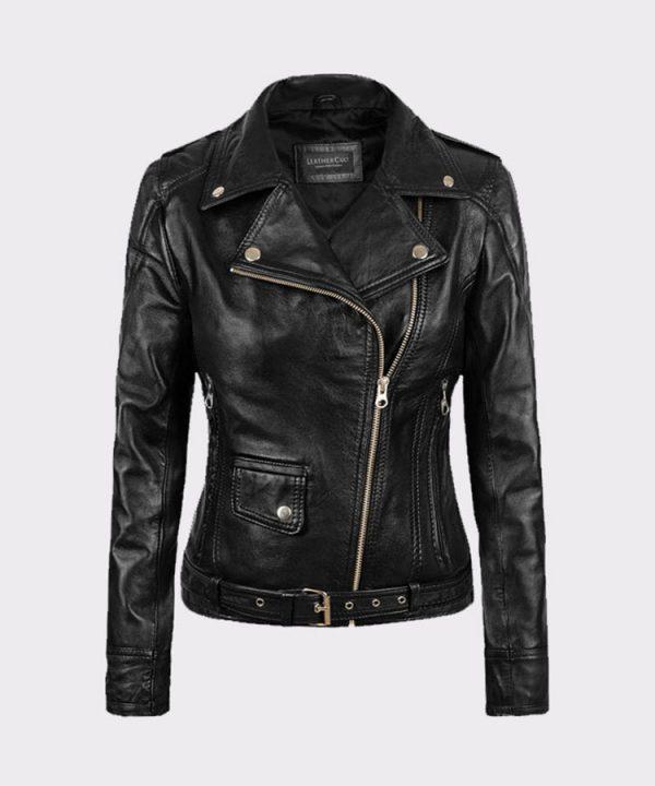 Ladies Sarah Connor Terminator Genisys Leather Fashion Biker Jacket