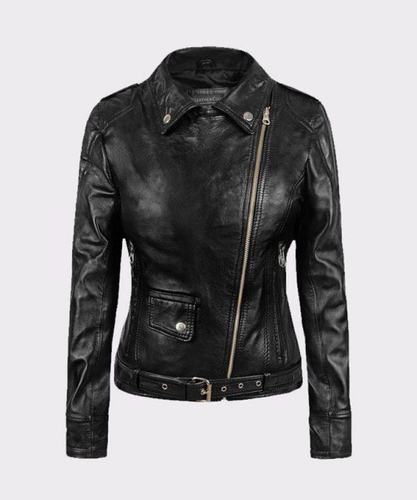 Ladies Sarah Connor Terminator Genisys Leather Fashion Biker Jacket1
