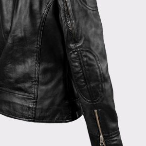 Ladies Sarah Connor Terminator Genisys Leather Fashion Biker Jacket3