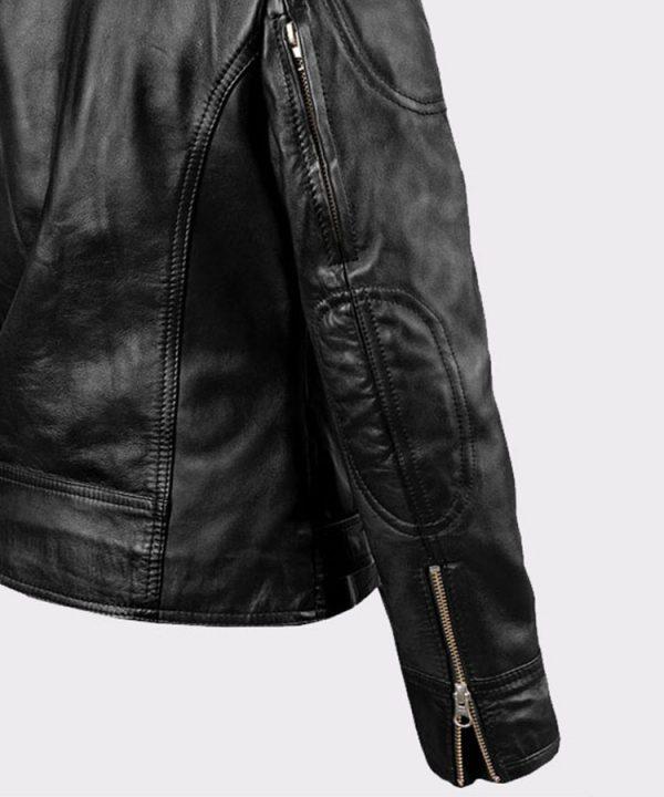 Ladies Sarah Connor Terminator Genisys Leather Fashion Biker Jacket3