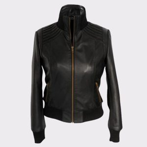 Ladies The Flash Kelly Frye Faux leather Black Jacket