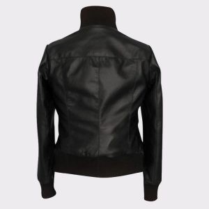 Ladies The Flash Kelly Frye Faux leather Black Jacket Back