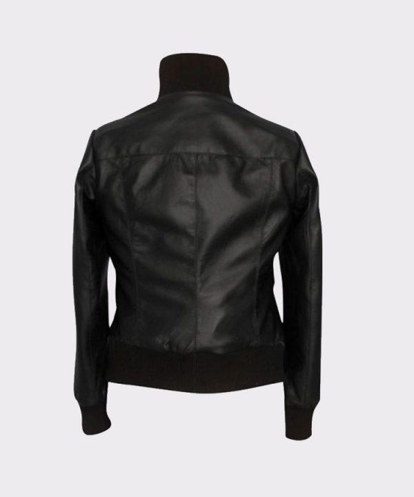 Ladies The Flash Kelly Frye Faux leather Black Jacket Back