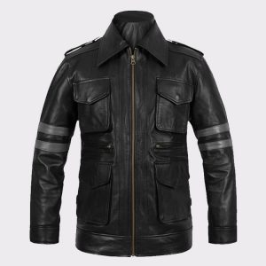 Leon Kennedy Men Fashion Resident Evil 6 Leather Jacket