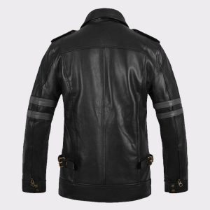 Leon Kennedy Men Fashion Resident Evil 6 Leather Jacket Back
