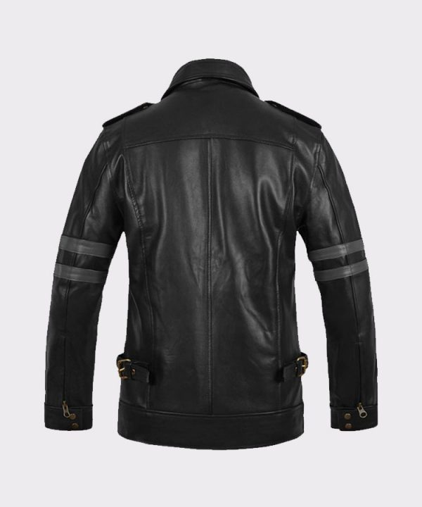 Leon Kennedy Men Fashion Resident Evil 6 Leather Jacket Back